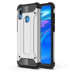 Hibrid Armor telefon tok telefontok Ütésálló Robusztus Cover Huawei Y7 2019 / Y7 Prime 2019 ezüst