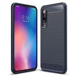 Carbon telefon tok telefontok (hátlap) rugalmas Cover TPU Xiaomi Mi 9 kék