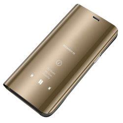 Clear View tok Samsung Galaxy S10 arany telefon tok telefontok
