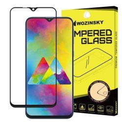 Wozinsky edzett üveg FullGlue Super Tough képernyővédő fólia Teljes Coveraged kerettel Case - barát Samsung Galaxy M10 fekete kijelzőfólia üvegfólia tempered glass