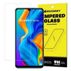 Wozinsky edzett üveg tempered glass tempered glass tempered glass 9H képernyővédő fólia Huawei P30 Lite (csomagolás - boríték)