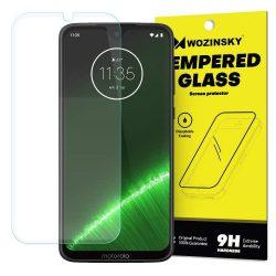 Wozinsky edzett üveg 9H képernyővédő fólia Motorola Motorola G7 Plus / G7 (csomagolás - boríték) kijelzőfólia üvegfólia tempered glass