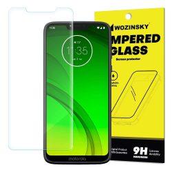 Wozinsky edzett üveg 9H képernyővédő fólia Motorola G7 Power (csomagolás - boríték) kijelzőfólia üvegfólia tempered glass