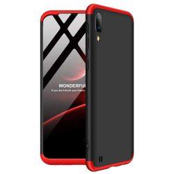 GKK 360 Protection telefon tok telefontok Első és hátsó az egész testet fedő Samsung Galaxy M10 fekete-piros