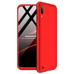 GKK 360 Protection telefon tok telefontok Első és hátsó az egész testet fedő Samsung Galaxy M10 piros
