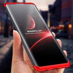 GKK 360 Protection telefon tok hátlap tok Első és hátsó tok telefon tok hátlap az egész testet fedő Samsung Galaxy S10 Plus fekete-piros