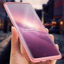 GKK 360 Protection telefon tok hátlap tok Első és hátsó tok telefon tok hátlap az egész testet fedő Samsung Galaxy S10 Plus rózsaszín