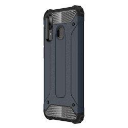 Hibrid Armor telefon tok telefontok Ütésálló Robusztus Cover Samsung Galaxy A30 kék