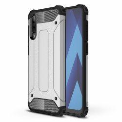Hibrid Armor Case Kemény Robusztus Cover Samsung Galaxy A50 ezüst tok telefon tok hátlap