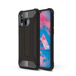 Hibrid Armor telefon tok hátlap tok Ütésálló Robusztus Cover Samsung Galaxy M30 fekete