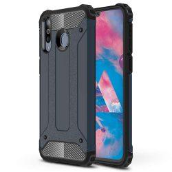 Hibrid Armor telefon tok hátlap tok Ütésálló Robusztus Cover Samsung Galaxy M30 kék