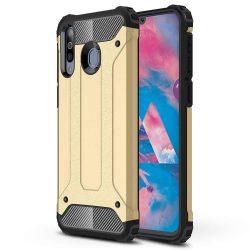 Hibrid Armor telefon tok hátlap tok Ütésálló Robusztus Cover Samsung Galaxy M30 arany
