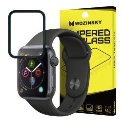 Wozinsky edzett üveg Teljes Glue Super Tough képernyővédő fólia Teljes Coveraged kerettel telefontok hátlap tok barát Apple Watch 4 40mm fekete kijelzőfólia üvegfólia tempered glass