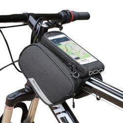 Wozinsky kerékpár első tároló táska kerékpár vázra Phone Case 6,5 hüvelykes max 1,5L fekete (WBB7BK)