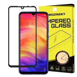 Wozinsky edzett üveg Teljes Glue Super Tough képernyővédő fólia Teljes Coveraged kerettel telefon tok hátlap tok barátságos Xiaomi redmi 7 fekete kijelzőfólia üvegfólia tempered glass