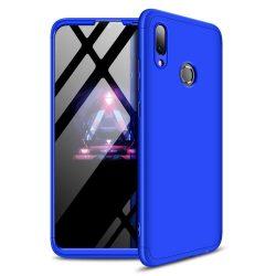 GKK 360 Protection telefon tok hátlap tok Első és hátsó tok telefon tok hátlap az egész testet fedő Huawei Y7 2019 / Y7 Prime 2019 kék