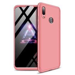 GKK 360 Protection telefon tok telefontok Első és hátsó az egész testet fedő Huawei Y7 2019 / Y7 Prime 2019 rózsaszín