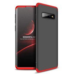 GKK 360 Protection telefon tok telefontok Első és hátsó az egész testet fedő Samsung Galaxy S10 fekete-piros
