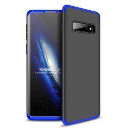 GKK 360 Protection telefon tok telefontok Első és hátsó az egész testet fedő Samsung Galaxy S10 fekete-kék