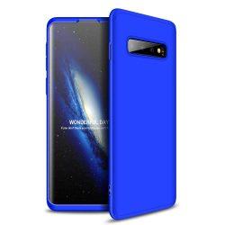 GKK 360 Protection telefon tok telefontok Első és hátsó az egész testet fedő Samsung Galaxy S10 kék