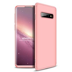 GKK 360 Protection telefon tok telefontok Első és hátsó az egész testet fedő Samsung Galaxy S10 rózsaszín