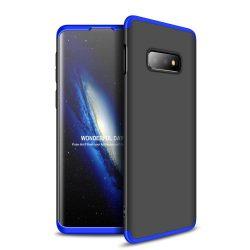 GKK 360 Protection telefon tok telefontok Első és hátsó az egész testet fedő Samsung Galaxy S10e fekete-kék