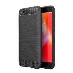 Carbon telefon tok hátlap tok rugalmas Cover TPU tok telefon tok hátlap Xiaomi redmi Go fekete