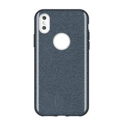 Wozinsky Glitter telefon tok telefontok Shining Cover Huawei Y7 2019 / Y7 Prime 2019 fekete