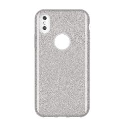 Wozinsky Glitter telefon tok telefontok Fényes Cover Huawei Y7 2019 / Y7 Prime 2019 ezüst