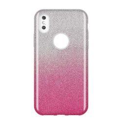 Wozinsky Glitter telefon tok hátlap tok Shining Cover Huawei Y7 2019 / Y7 Prime 2019 rózsaszín