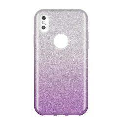 Wozinsky Glitter telefon tok telefontok Fényes Cover Huawei Y7 2019 / Y7 Prime 2019 lila