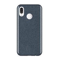 Wozinsky Glitter telefon tok telefontok (hátlap) tok Fényes Cover Samsung Galaxy A9 2018 A920 fekete