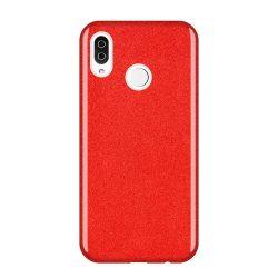 Wozinsky Glitter telefon tok telefontok (hátlap) tok Fényes Cover Samsung Galaxy A9 2018 A920 piros