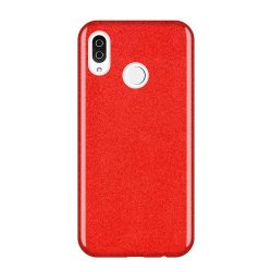 Wozinsky Glitter telefon tok telefontok Fényes Cover Samsung Galaxy A9 2018 A920 piros
