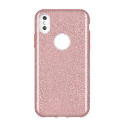Wozinsky Glitter Case Fényes Cover Samsung Galaxy A9 2018 A920 világos rózsaszín tok telefon tok hátlap