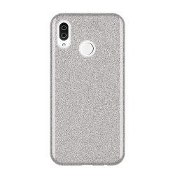 Wozinsky Glitter telefon tok telefontok (hátlap) tok Fényes Cover Samsung Galaxy A9 2018 A920 ezüst