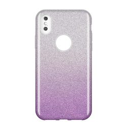 Wozinsky Glitter telefon tok telefontok Fényes Cover Samsung Galaxy A9 2018 A920 lila