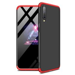 GKK 360 Protection telefon tok telefontok Első és hátsó az egész testet fedő Samsung Galaxy A50 fekete-piros