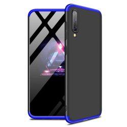 GKK 360 Protection telefon tok telefontok Első és hátsó az egész testet fedő Samsung Galaxy A50 fekete-kék