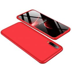 GKK 360 Protection telefon tok hátlap tok Első és hátsó tok telefon tok hátlap az egész testet fedő Samsung Galaxy A50 piros
