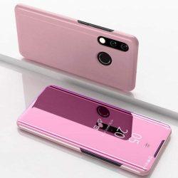 Clear View telefon tok telefontok Huawei Y7 2019 / Y7 Prime 2019 rózsaszín