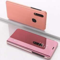 Clear View tok telefon tok hátlap Samsung Galaxy A50 rózsaszín