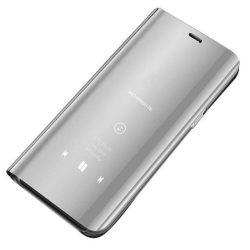 Clear View tok telefon tok hátlap Samsung Galaxy A70 ezüst