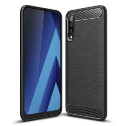Carbon telefon tok telefontok (hátlap) rugalmas Cover TPU Samsung Galaxy A70 fekete