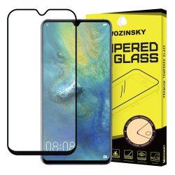 Wozinsky edzett üveg Teljes Glue Super Tough képernyővédő fólia Teljes Coveraged kerettel Case barát Huawei Mate 20 fekete kijelzőfólia üvegfólia tempered glass