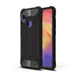 Hibrid Armor telefon tok hátlap tok Ütésálló Robusztus hátlap tok telefon tok Xiaomi redmi 7 fekete