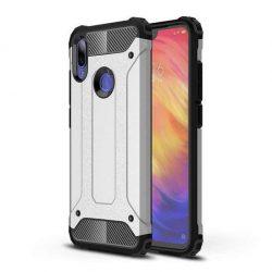 Hibrid Armor telefon tok hátlap tok Ütésálló Robusztus hátlap tok telefon tok Xiaomi redmi 7 ezüst