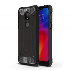 Hibrid Armor telefon tok hátlap tok Ütésálló Robusztus Cover Motorola G7 Power fekete