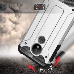 Hibrid Armor telefon tok hátlap tok Ütésálló Robusztus Cover Motorola G7 Power kék