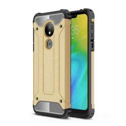 Hibrid Armor telefon tok hátlap tok Ütésálló Robusztus Cover Motorola G7 Power arany